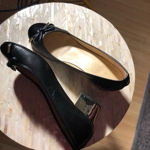 Ivanka Trump gold block heel shoes, flats